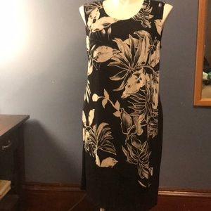 Connected apparel size 16 black/ white dress
